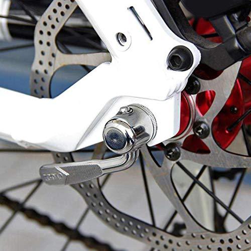 Esenlong Pinchador de bicicleta, de acero ligero, de liberación rápida, pincho de bicicleta de montaña para interiores y amantes del ciclismo (plata)