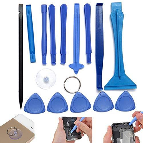 Lishaodonglishaodon Kit de Herramientas de reparación de teléfonos celulares de 15pcs Murmer Herramientas de Posibilidad de desmontaje de precisión