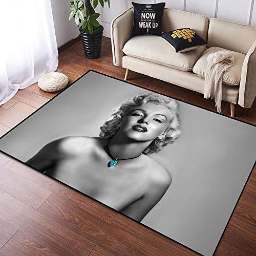 Coobal Marilyn Monroe - Alfombra grande para suelo de yoga, alfombra personalizada para niños, sala de juegos, dormitorio de 3 x 5 pies (90 x 150 cm)