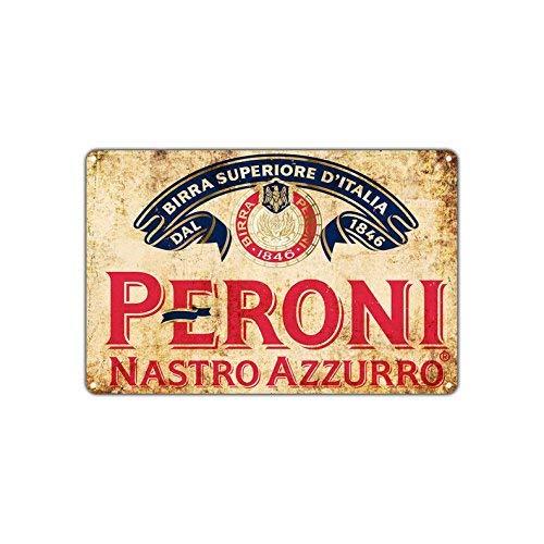 HSSS Peroni Nastro Azzurro Bier 1846 Vintage Wall Décor Art Metal Bar Pub Italia Brouwerij Aluminium 8x12 inch teken