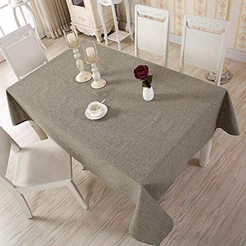 Manteles ULE Mesa Rectangularmantel De Algodón De Lino, Mantel De Color Sólido, Lavable, para Banquetes De Boda, para Mesa De Centro, 140x140cm_04