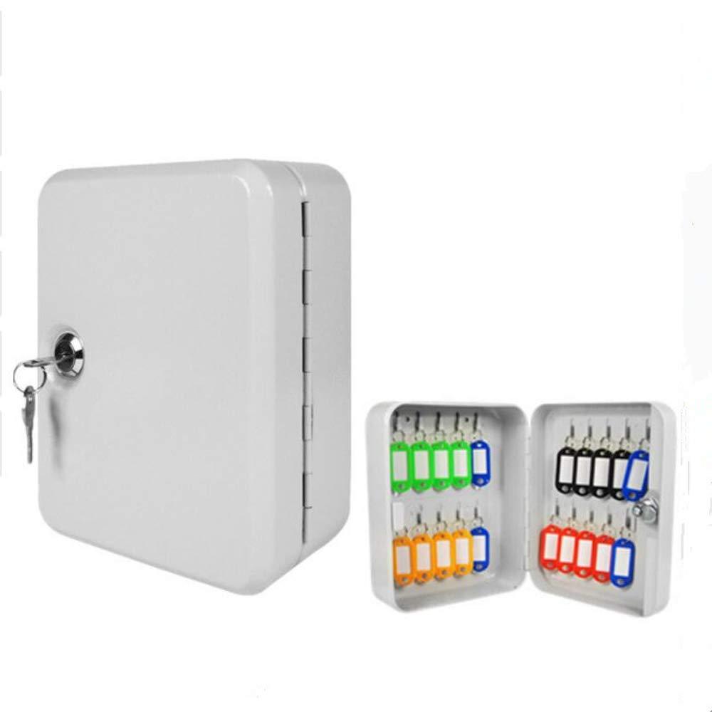 Caja de gabinete para llaves 20 Etiquetas Montado en la pared Cerradura de seguridad Armario metálico Caja de gabinete de seguridad de acero de seguridad Cerradura de combinación: Amazon.es: Hogar