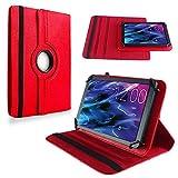 NAUC Medion Lifetab S10351 S10352 Tasche Hülle Tablet Schutzhülle Hülle Schutz Cover, Farben:Rot
