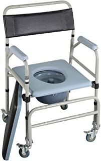 YXZQ Toilet Chair, Shower Bedside Commode Chair, Waterproof Transport Medical Rolling Chair, Suitable for Elder Disabled a...