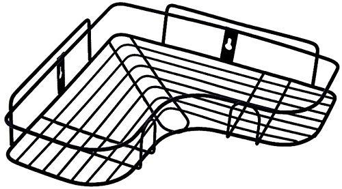FswallowTower Salle De Bain Coin Rack Coup De Poing Libre Étagère D'angle Appareils En Fer Forgé De Stockage Rack Cuisine Trépied Étagère Murale Sèche-Cheveux Titulaire