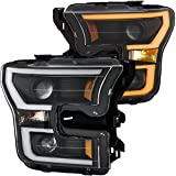 AnzoUSA 111357 Ford F-150 Projector Headlight w/LED Light Bar
