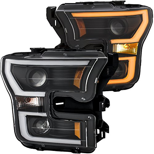 AnzoUSA 111357 Ford F150 Projector Headlight w/LED Light Bar