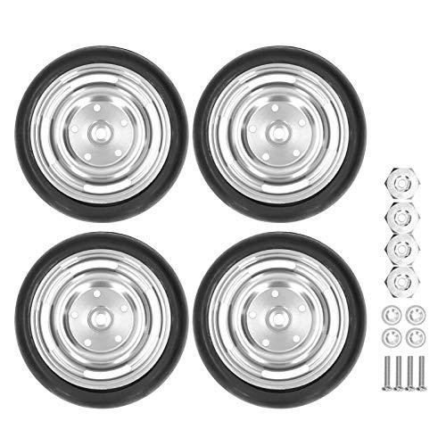 Velaurs Neumáticos de Goma 1/10 RC, 63 mm de diámetro 4 Agujeros D12 Neumáticos Antideslizantes 1/10 para WPL D12 1/10 RC Car para automóvil