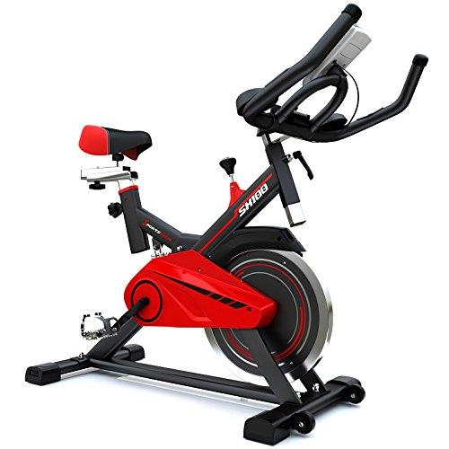 Sportstech Bicicleta Estática Profesional | Bicicleta de Ejercicio con Volante de Inercia 13kg y eBook | Bicicleta para casa - Video Eventos & App Multijugador | Bicicleta Fitness hasta 120 Kg | SX100