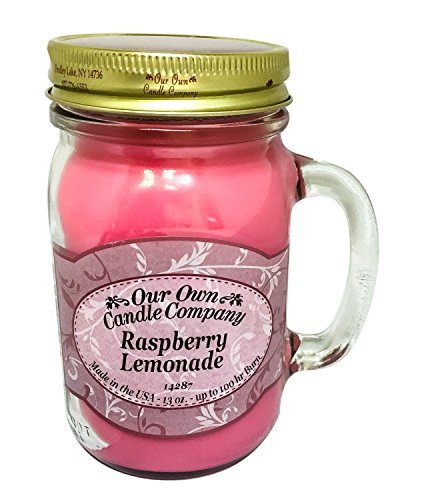 our own candle 13Oz Raspberry Lemonade Scented Jar Candle (Company Brand) Made In USA - 100 Hr Burn
