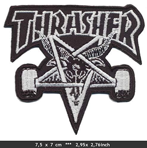 RG20 Trasher Patch Aufnäher Aufbügler Skateboarder Magazine USA v2