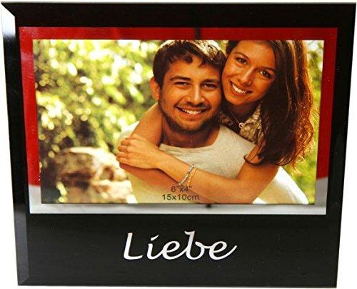 Cadre photo pour Amoureux en verre – Un super cadeau pour Saint Valentin, anniversaire, anniversaire ou à Noël
