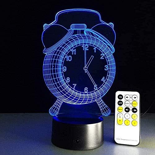 LED 3D Nachtlicht USB-Kabel 7 Farben Visual Touch Lampe Jawell Kinder Nachttischlampen Kinder Nachtlicht Schreibtisch Schlafzimmer Dekoration Beleuchtung Wecker