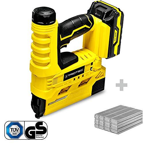 TROTEC Grapadora eléctrica con batería PTNS 10-20V+ Juego de clavos para grapadora...