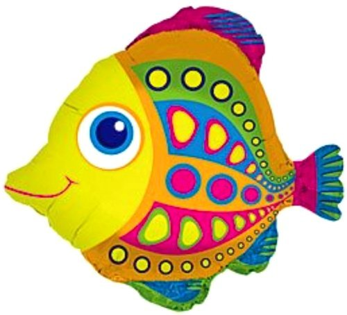 SPACE PET CITRUS FISH 27 inch STRINGLESS FLYING PET Balloon ANTI-GRAVITY TOY HOVERS and FLOATS in MID-AIR - Includes Height Control Weights