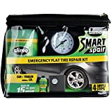 Slime 50107 Flat Tire Puncture Repair, Smart Spair, Emergency Kit for Car Tires, Includes Sealant and Tire Inflator Pump, Suitable for Cars and Other Highway Vehicles, 15 Min Fix