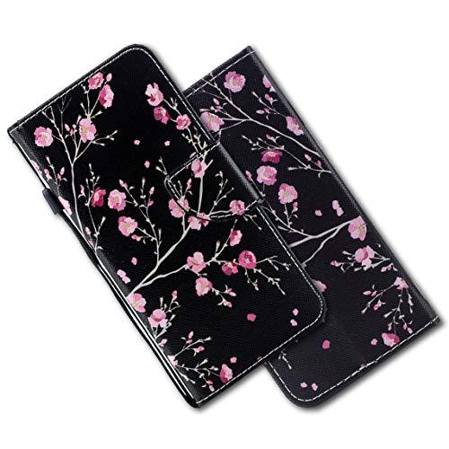 MRSTER Xiaomi Redmi 4X Funda, Xiaomi Redmi 4X Cover, Ultra Slim Carcasa Protección de PU Cuero Funda con Stand Función para Xiaomi Redmi 4X. HX Pink Flower