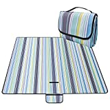 Halomy Picnic Blanket Extra Large Outdoor Blanket 80' x 80' Portable Waterproof Beach Mat with Handle for Camping, Beach, Travel, BBQ, Outdoor, Hiking