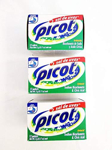 Picot Antacid, Sodium Bicarbonate & Citric Acid: 3 Pack of 12 Packets
