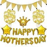 EOINSHOP Globo Día De La Madre Decoración Dorado Set Feliz Motersday Feliz Día De La Madre Foil Escena De Balloon Decoración Fiesta Eventos Acción De Gracias Madre Beato Balloons Regalo