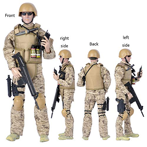 12'' American Military Soldiers Special Forces Army Man Action Figures Play Set-Digital Desert Camouflage