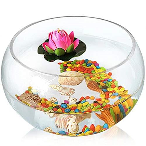 ZDAMN Pecera Cilindro Redondo Redondo Goldfish Tank Creatividad ecológica Tanque de Pescado de Vidrio Tanque de Tortuga Grande Hidropónico Jarrón del Tanque Acuario de Cristal