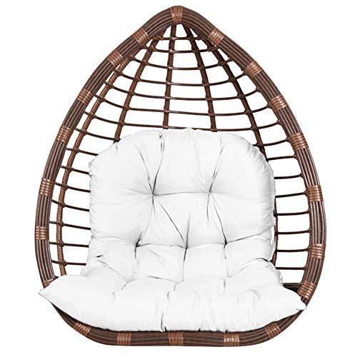 YLLQXI Swing Chair Cushion Pads, Hanging Rattan Swing Patio Garden Chair, Egg Cushion Lounger Cushion, Patio Garden Swing Wicker Rattan Egg Chair Hammock Pad Mat, 80x120cm