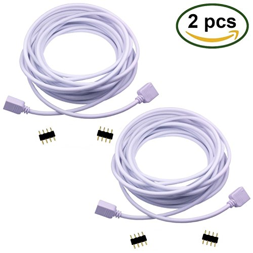 LitaElek 2x 5m 4 polig RGB Verlängerungskabel LED Streifen Verbinder Verlängerung Anschluss Verteiler Kabel für 4 polig RGB 5050 3528 2835 LED Streifen Licht,4 polig LED TV Hintergrundbeleuchtung SET