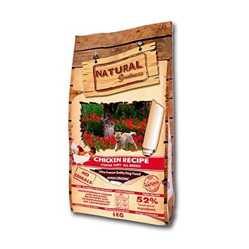 Natural Greatness Pienso seco para Perros. Receta de Pollo - Ultra Premium - Destete - Cachorro - Junior - Todas Las Razas – 800 g