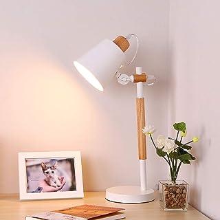 Lampe de Table Lampe Nordic Wooden Salon Lampe de Table Creative Restaurant Chambre à Coucher Lampe de Lecture Eye Etude B...
