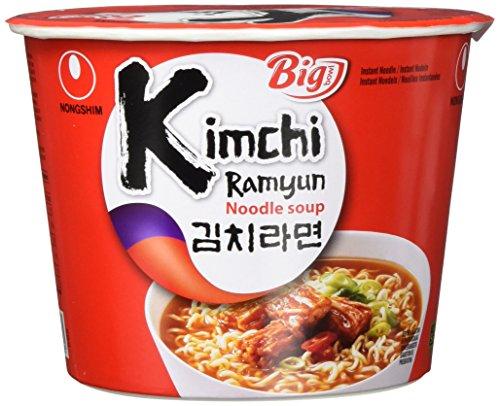 Nong Shim Instantnudeln Kimchi Ramyun Big Bowl - Koreanische Ramen Suppe - schnelle Zubereitung - 1er Vorteilspack à 112 g