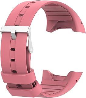 Ryra Correa de reloj de silicona compatible con Polar M400/M430, correa de repuesto para rastreador de actividad deportiva transpirable