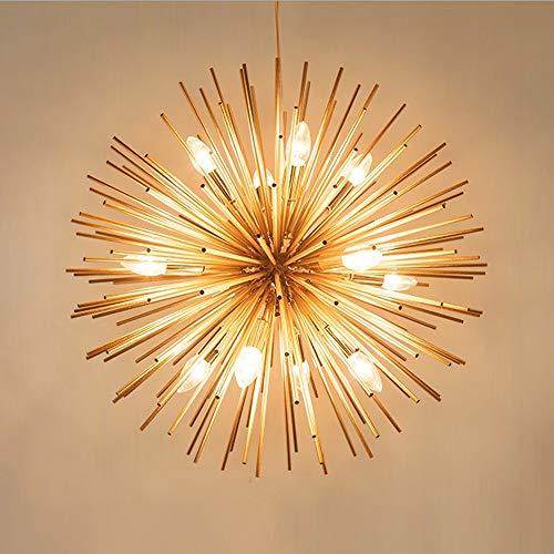 DLGGO Nordic Kugel-hängendes Licht, Spherical Kronleuchter, Modern Gold-Licht, kreative Dandelion Lampe, Seeigel-Lampe, for Innendeckenbeleuchtung Wohnzimmer Restaurant Ausstellung Dekor Hängelampe