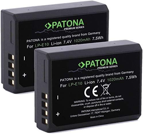 Patona Premium Akku 2x Ersatz Für Akku Canon Lp E10 Kamera