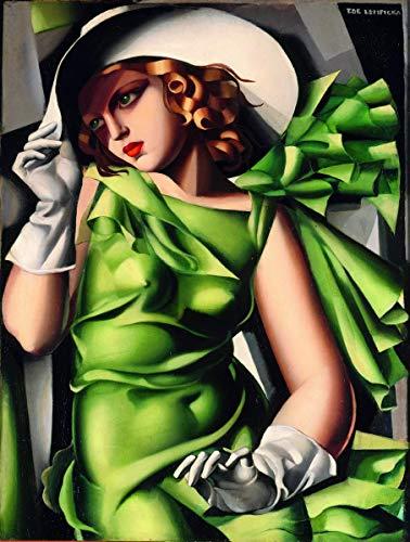 Berkin Arts Tamara De Lempicka Giclée Leinwand Prints Gemälde Poster Reproduktion (Junge Dame mit Handschuhen)