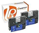 Bubprint 2 Schriftbänder kompatibel für Brother TZE-121 TZE 121 für P-Touch 1280 2430PC 2730VP 3600 9500PC 9700PC D400VP D600VP H100LB H105 P700 P750W
