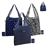 Reusable Shopping Bags for Grocery, 3 Pack Large 40LBS Bulk Foldable Reusable Tote Grocery Bags 100% Polyester Fabric Machine Washable Sturdy Lightweight