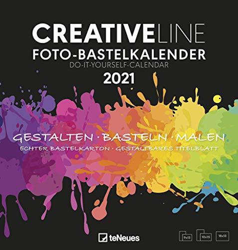 Foto-Bastelkalender schwarz 2021 - Kreativ-Kalender - DIY-Kalender - Kalender-zum-basteln - 21x22 - datiert