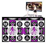 DRAKE18 Doppio Tappeto da Ballo, Step Sense Game Dancer Pads, Compatibile con TV/PC, Coperta Antiscivolo, con Ricevitore Wireless, Telecomando per Le Ragazze dei Ragazzi