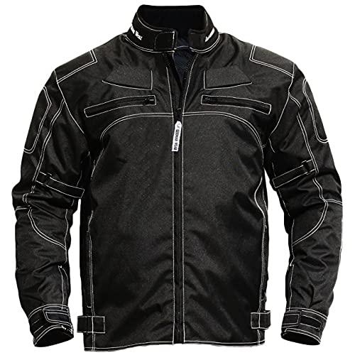 German Wear - Chaqueta para motocicleta de tejido, color negro
