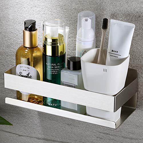 Deprik Duschablage ohne Bohren - Duschregal Selbstklebend Edelstahl Duschkorb für die Badezimmer und Küche