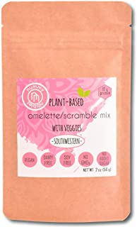 Plant Based Omelet/Scramble Mix with veggies (3 x 2 oz Packs)|Southwestern Flavor|No Eggs,Vegan,Soy Free,Gluten Free