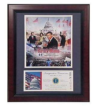 Encore Barack Obama Inauguration Ceremony Ticket 11 x14  Frame USA 44th President Commemorative Official United States
