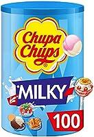 Chupa Chups Schlemmerlutsch-doos, 100 stuks Lollis, 3 crèmige smaakjes, Milky Lutscher