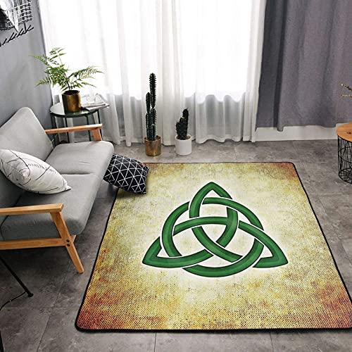 Celtic Trinity Knot Area Rugs, Bedroom Living Room Kitchen Mat, Floor Mat Doormats Nursery Rugs, Children Play Rug Carpet Bath Mat, Throw Rugs Carpet Yoga Mat One Size