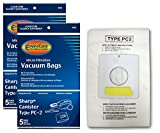 EnviroCare Replacement Micro Filtration Vacuum Cleaner Dust Bags made to fit Sharp Canister Type PC-2 10 Pack