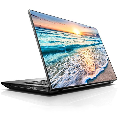 """itsaskin1 15 15.6 inch Laptop Notebook Skin Vinyl Sticker Cover Decal Fits 13.3"""" 14"""" 15.6"""" 16"""" HP Lenovo Apple Mac Dell Compaq Acer - Sunset on Beach"""