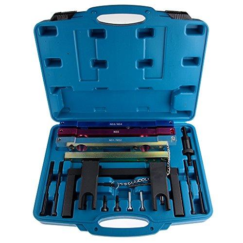 ECCPP Automotive Engines Camshaft Crankshaft Timing Vanos Alignment Locking Tools Kit Fit for BMW N51 N52 N53 N54 N55 Engines