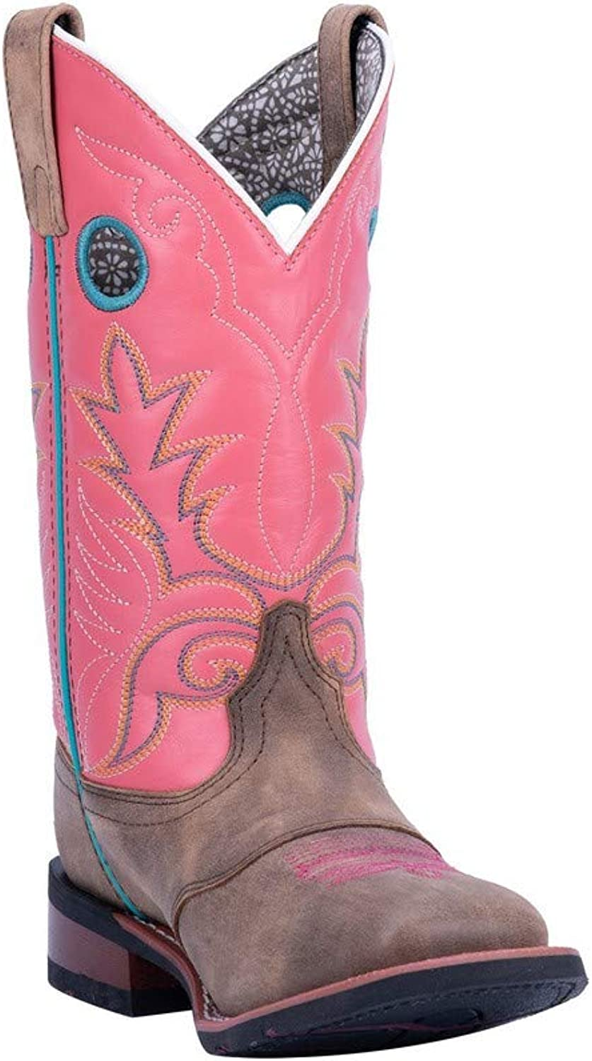 Laredo Broad Square Toe Cowgirl Boots, Sand Pink