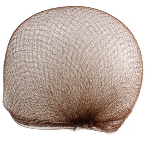 WeKen Pack of 20pcs Hair Nets Invisible Elastic Edge Mesh 50cm 20' Light Brown